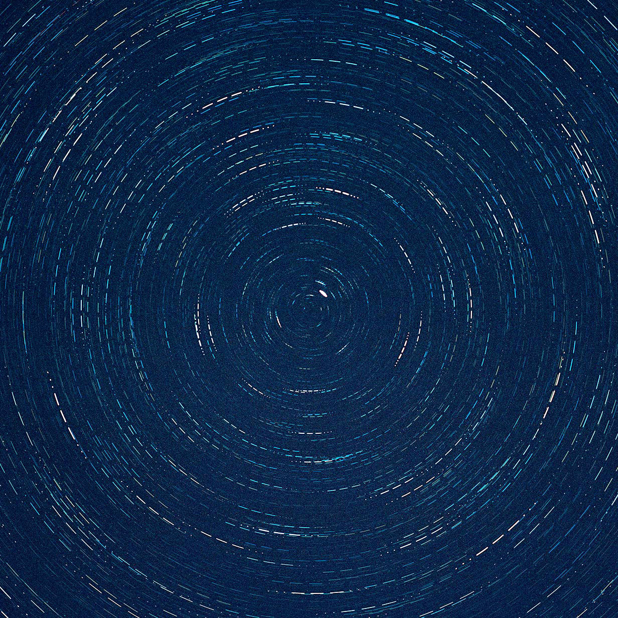 Startrail Sequenced into Morse Code (Detail) Lightjet Print Dimensions Variable