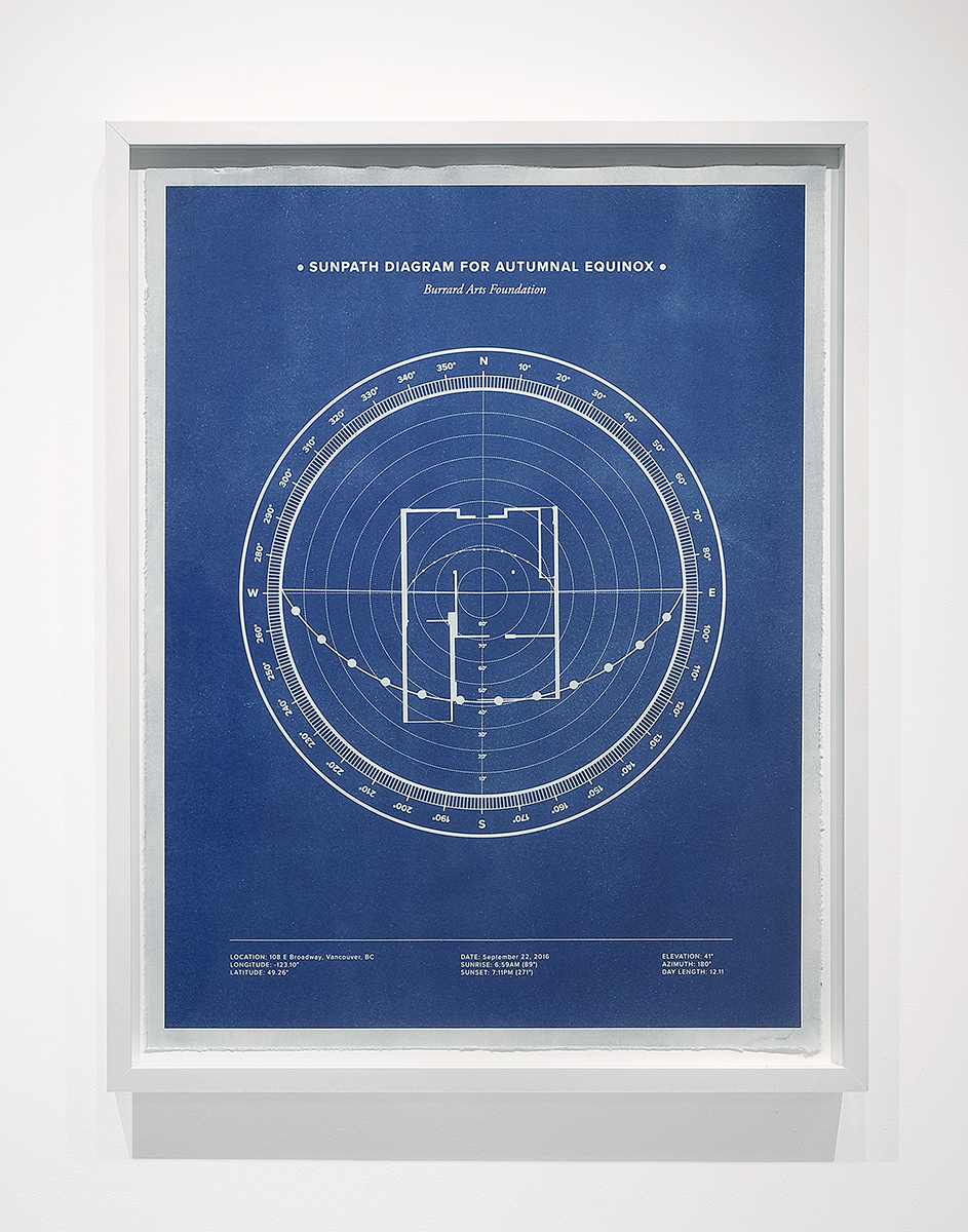 Blueprint, 2016 Cyanotype on Cotton Paper 20 x 16 inches