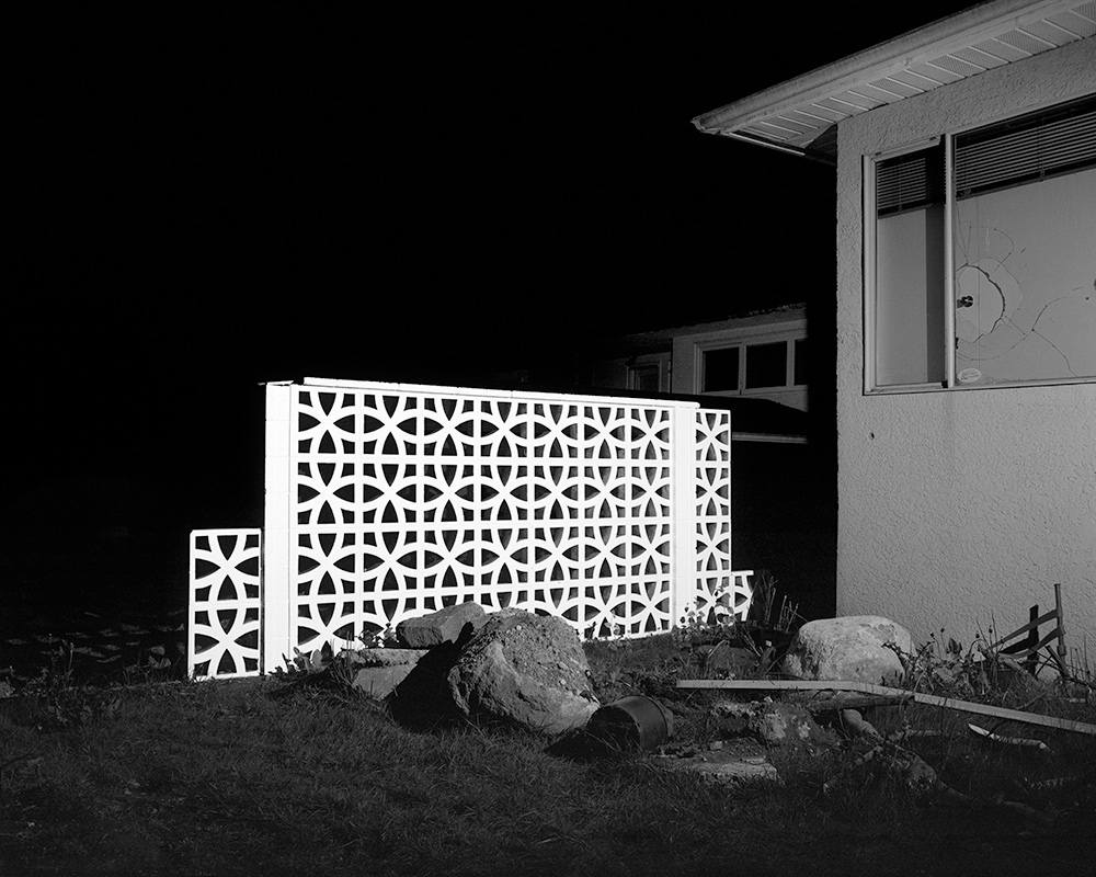 Cinderblock Wall (Illuminations Series), 2015 Archival Pigment Print Print Dimensions Variable