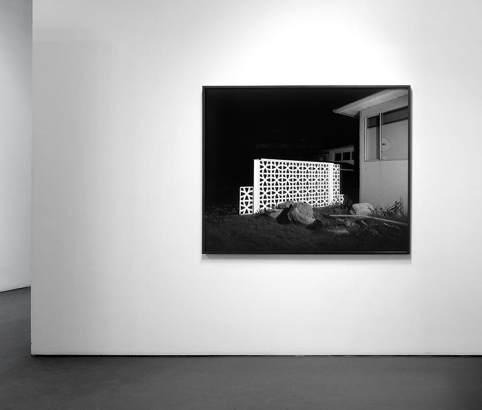 Cinderblock Wall (Illuminations Series), 2015 Archival Pigment Print 48 x 60 inches