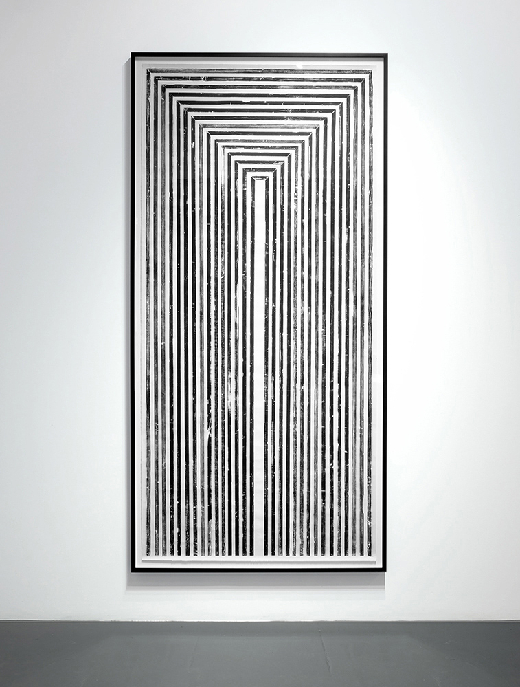 Stele, 2015 Relief Print Made From Door Frame Matrix 80 x 37.5 inches