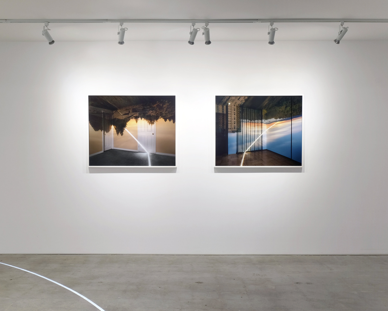 From Sunrise & To Sunset, 2016 Exhibition View Each 32 x 40 inches