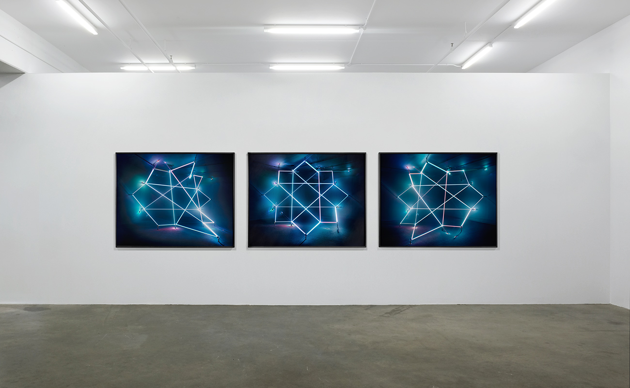 3 Movements Inscribing an Octagram, 2016 Lightjet Print Each 40 x 50 inches